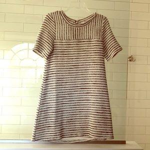 Black and white stripe BCBG dress